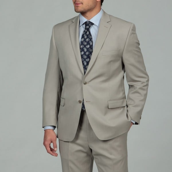 Calvin Klein Men's Stone 2-button Wool Suit