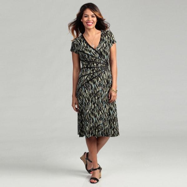 Connected Apparel Women's Sage Sunburst Dress