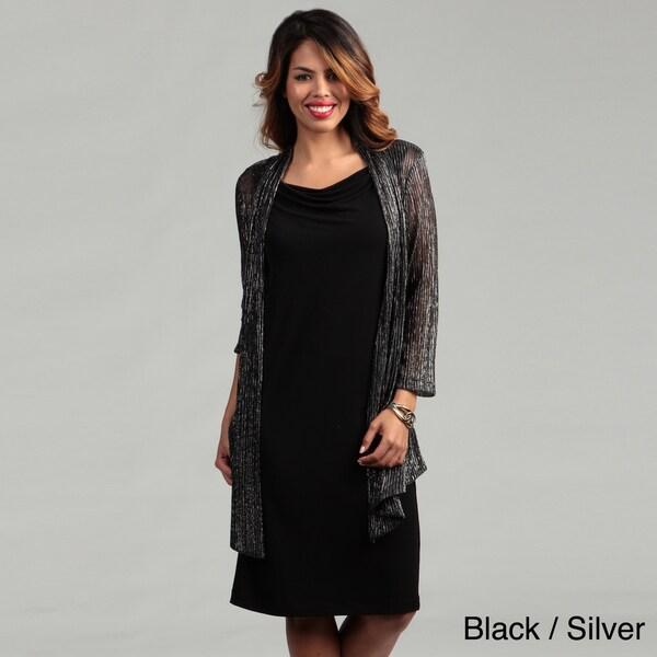 Connected Apparel Women's Metallic Dress