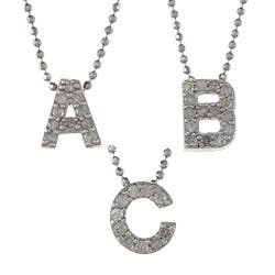 Victoria Kay Sterling Silver 1/10ct TDW White Diamond Initial Necklace (J-K, I2-I3)|https://ak1.ostkcdn.com/images/products/6543445/Sterling-Silver-1-10ct-TDW-White-Diamond-Initial-Necklace-J-K-I2-I3-P14124867.jpg?impolicy=medium