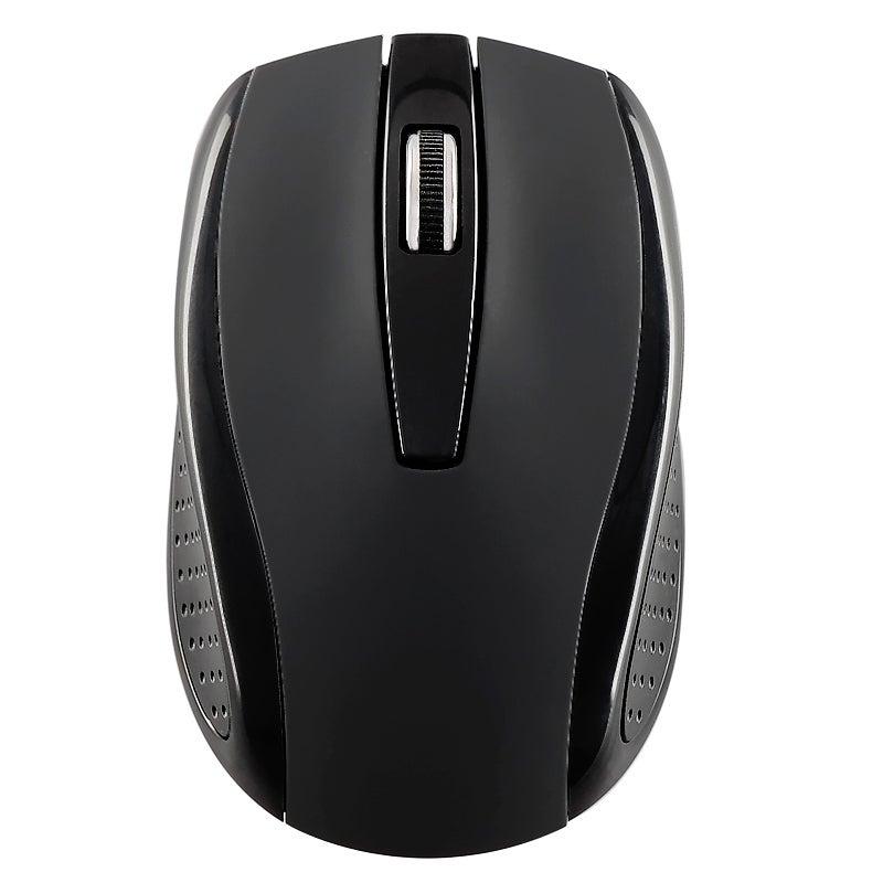 INSTEN 2.4GHz Black Cordless Wireless Optical Mouse