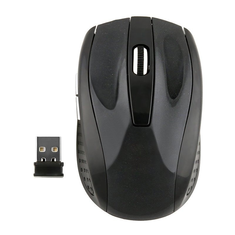 Insten 2.4GHz Black Cordless Wireless Optical Mouse, Size...
