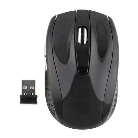 INSTEN 2.4GHz Black Cordless Wireless Optical Mouse - 9' x 12'