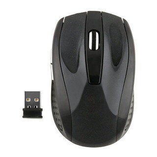 INSTEN 2.4GHz Black Cordless Wireless Optical Mouse