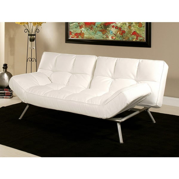 Abbyson Living Milano White Convertible Euro Sofa Lounger