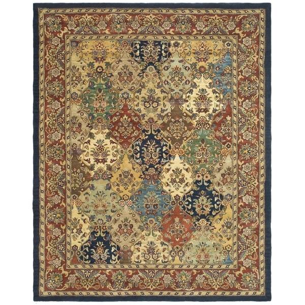 Safavieh Handmade Heritage Timeless Traditional Multicolor/ Burgundy Wool Rug (11' x 17')