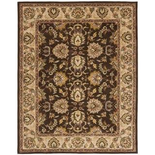 Safavieh Handmade Heritage Timeless Traditional Brown Ivory Wool Rug 11 X 17