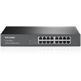 TP-LINK TL-SF1016DS 10/100Mbps 16-Port Switch, 13-inch, Rackmount, 3.