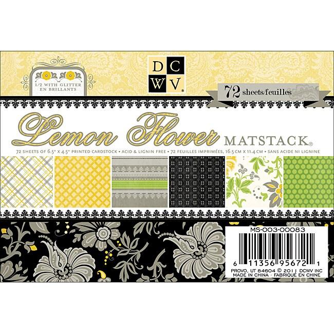 Lemon Flower Mat Stack (Pack of 72)