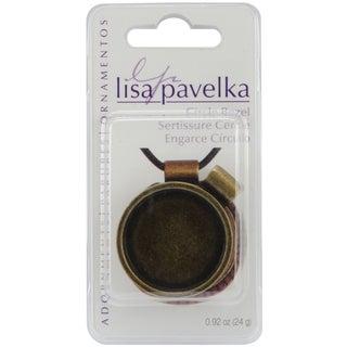 Lisa Pavelka Antique Gold Round Bezel