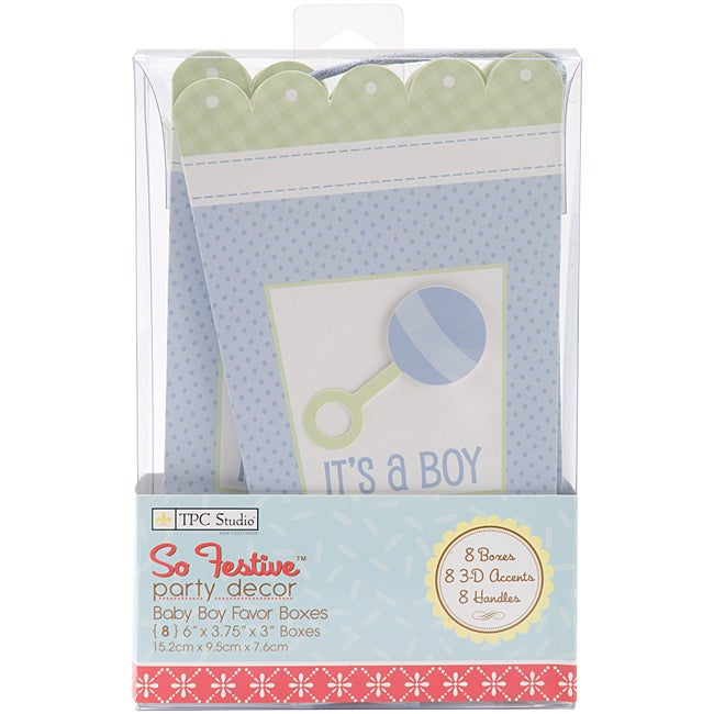 Westrim Crafts 'Baby Boy' Favor Box Kits