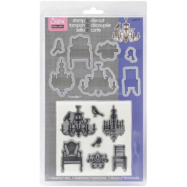 Sizzix 'Chandeliers' Framelits Dies with Clear Stamps