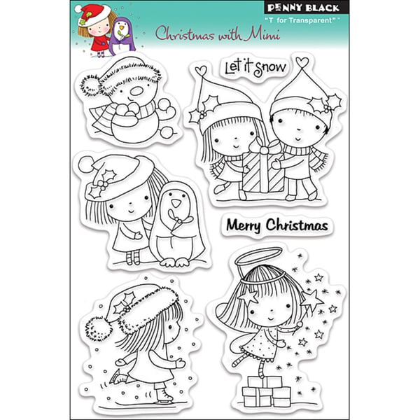 Penny Black Christmas With Mimi Clear Stamps