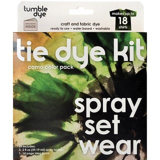 Tumble Dye Camo Color Pack Craft/ Fabric Dye Kit