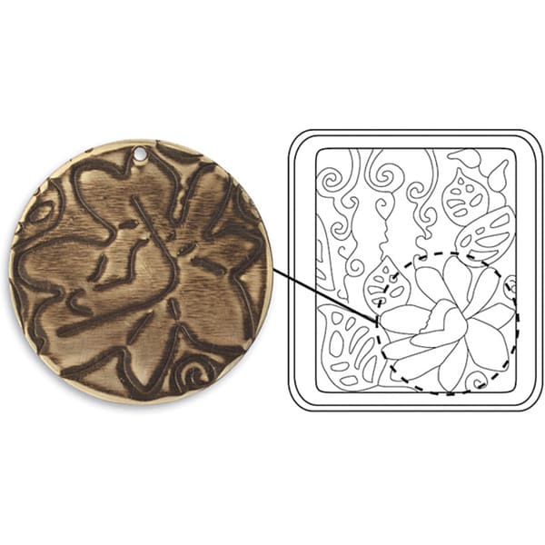 Sizzix 'Botanical Flourish' DecoEtch Etching Vintaj Plate
