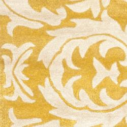 Safavieh Handmade Soho Gold/ Ivory New Zealand Wool Rug (2'6 x 6') - Thumbnail 2