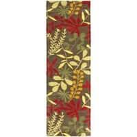 "Safavieh Handmade Soho Brown/Multi Floral-Print New Zealand Wool Rug - 2'6"" x 12'"