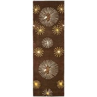"Safavieh Handmade Soho Voyage Brown/ Multi N. Z. Wool Rug - 2'6"" x 12'"