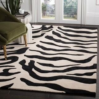 Safavieh Handmade Soho Ephrat Zebra N.Z. Wool Rug