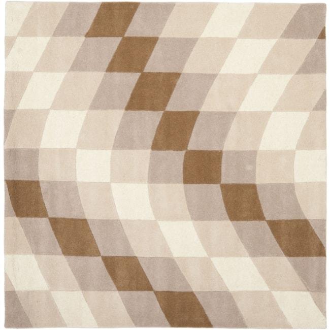 Safavieh Handmade Soho Prism Modern Abstract Wool Rug (6' x 6' Square)
