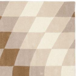 Safavieh Handmade Soho Prism Modern Abstract Wool Rug (6' x 6' Square) - Thumbnail 1