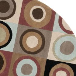 Safavieh Handmade Soho Checkers New Zealand Wool Rug (6' Round)
