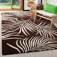 Safavieh Handmade Soho Fern Brown New Zealand Wool Rug - 5' x 8'