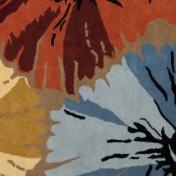 Safavieh Handmade Soho Floral Brown New Zealand Wool Rug (6' Square) - Thumbnail 2