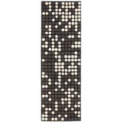 Safavieh Handmade Soho Dots Black New Zealand Wool Rug (2'6 x 12')