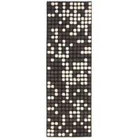 Safavieh Handmade Soho Dots Black New Zealand Wool Rug - 2'6 x 12'