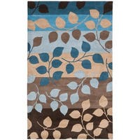 "Safavieh Handmade Soho Garden Brown New Zealand Wool Rug - 7'-6"" X 9'-6"""