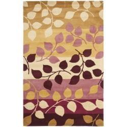 Safavieh Handmade Soho Garden Red New Zealand Wool Rug (3'6 x 5'6')