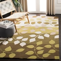 "Safavieh Handmade Soho Garden Brown New Zealand Wool Rug - 3'-6"" x 5'-6"""