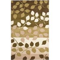 "Safavieh Handmade Soho Garden Green New Zealand Wool Rug - 7'6"" x 9'6"""