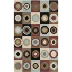 "Safavieh Handmade Soho Checkers New Zealand Wool Rug - 7'6"" x 9'6"" - Thumbnail 0"