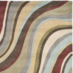 Safavieh Handmade Soho Waves New Zealand Wool Rug (3'6 x 5'6')