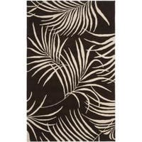Safavieh Handmade Soho Fern Brown New Zealand Wool Rug - 7'6 x 9'6