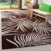 "Safavieh Handmade Soho Fern Brown New Zealand Wool Rug - 7'6"" x 9'6"""