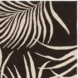 Safavieh Handmade Soho Fern Brown New Zealand Wool Rug (3'6 x 5'6') - Thumbnail 1