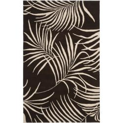 Safavieh Handmade Soho Fern Brown New Zealand Wool Rug - 3'6 x 5'6 - Thumbnail 0