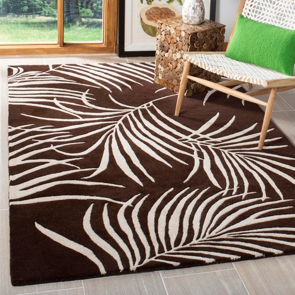 "Safavieh Handmade Soho Fern Brown New Zealand Wool Rug - 3'-6"" x 5'-6"""