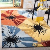 "Safavieh Handmade Soho Floral Brown New Zealand Wool Rug - 3'-6"" x 5'-6"""