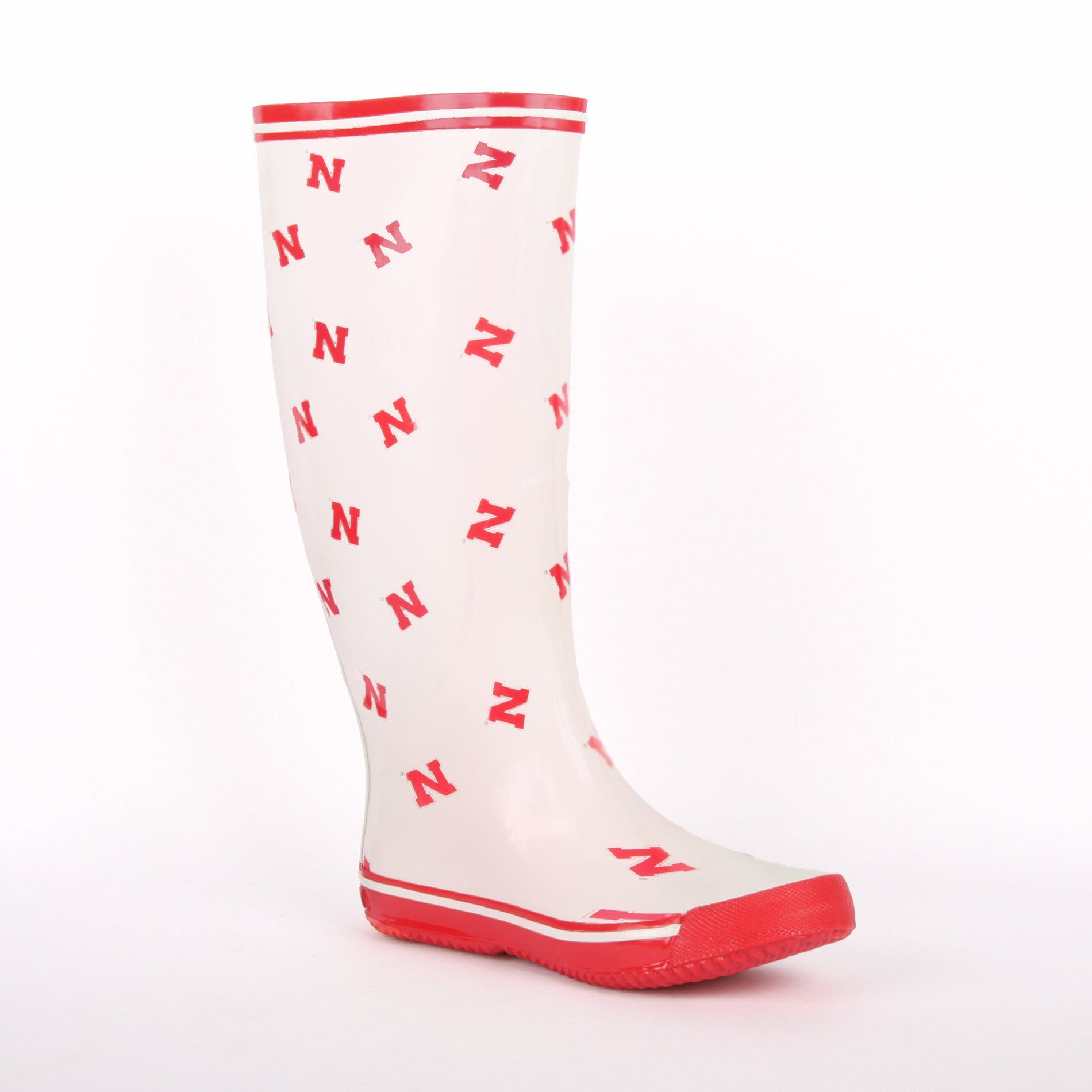 NCAA Nebraska Cornhuskers Women's Scattered Logo Rain Boots