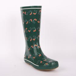 Miami Hurricanes Women's Scattered Logo Rain Boots - Thumbnail 0