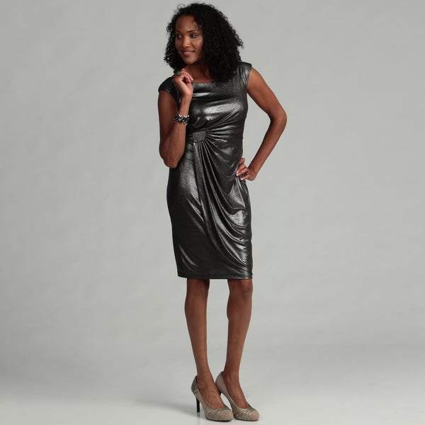 Connected Apparel Women's Black/ Silver Dress