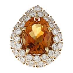 Pre-owned 18k Yellow Gold Citrine and 4ct TDW Diamond Cocktail Ring (H-I, VS1- VS2) https://ak1.ostkcdn.com/images/products/6545199/18k-Yellow-Gold-Citrine-and-4ct-TDW-Diamond-Cocktail-Ring-H-I-VS1-VS2-P14126298.jpg?impolicy=medium
