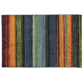 "Mohawk Home New Wave Rainbow Stripe Area Rug (2'6 x 3'10) - 2' 6"" x 3' 10"""