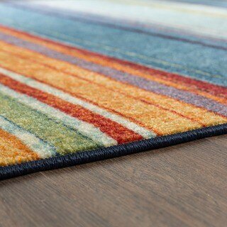 Mohawk Home New Wave Rainbow Stripe Area Rug (2'6 x 3'10) - 2'6 x 3'10