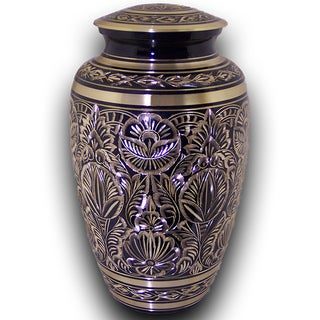Star Legacy Majestic Radiance Large Adult Brass Urn with Velvet Box