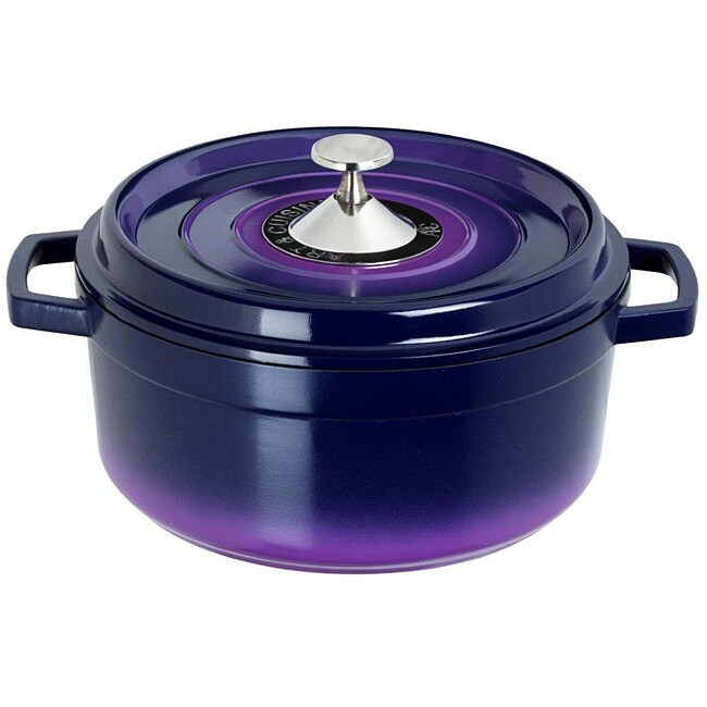 Art & Cuisine Cocotte Purple 7.2-quart Cast Aluminium Round Soup Pot